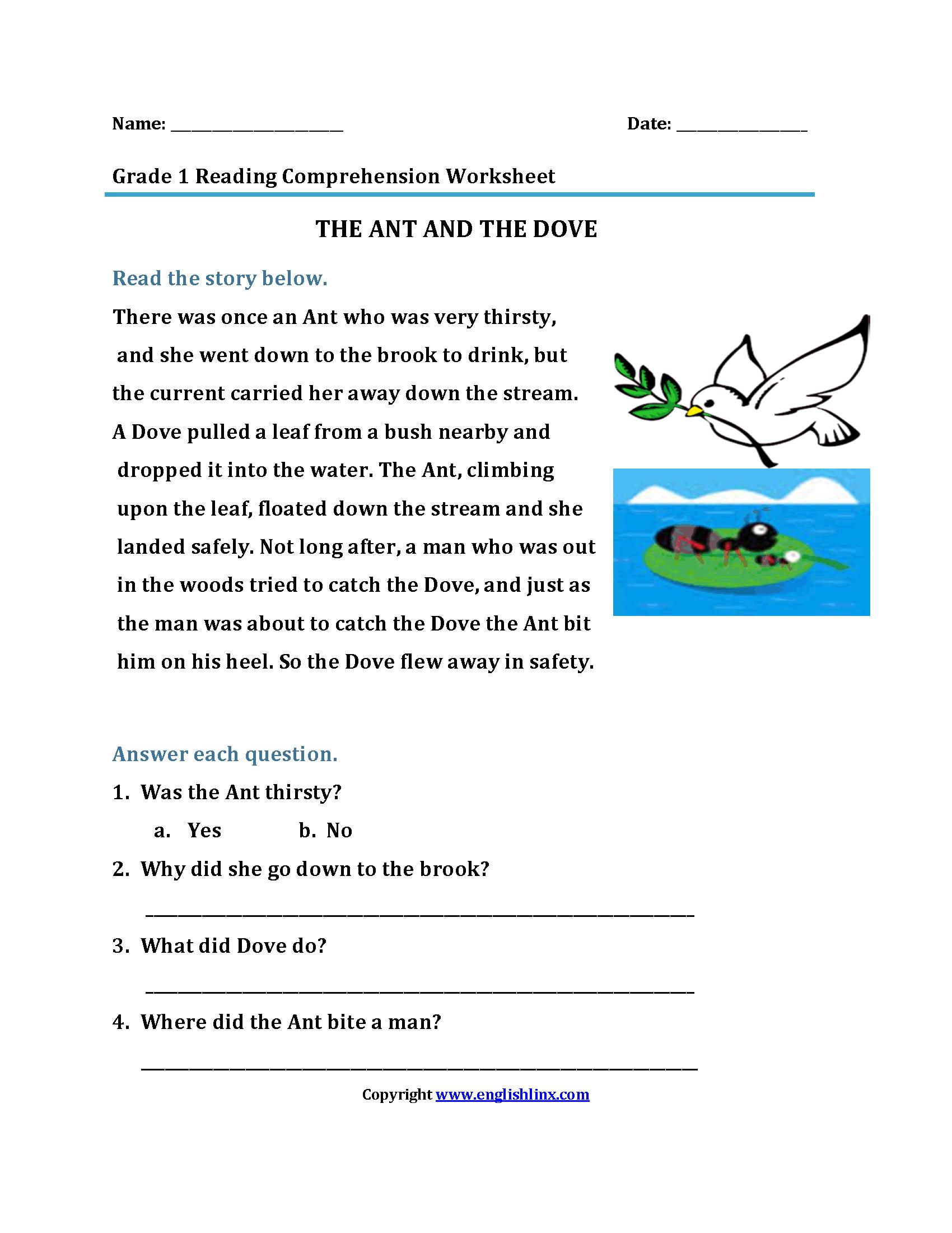 All Worksheets printable comprehension worksheets : Englishlinx.com : English Worksheets