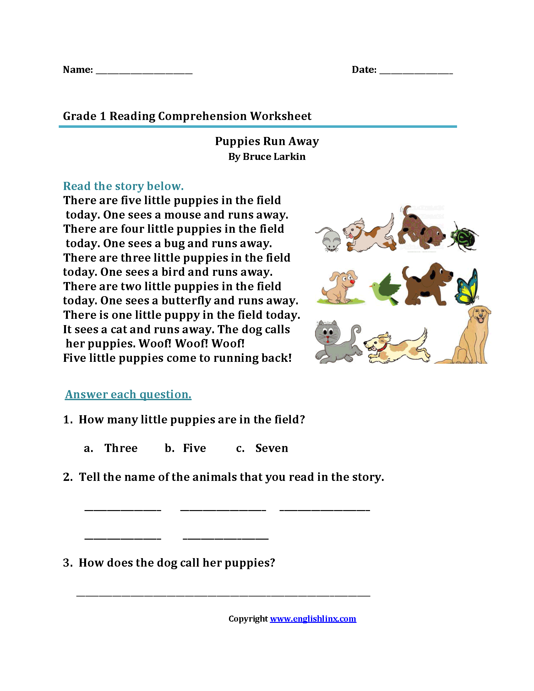 Uncategorized 1st Grade Comprehension Worksheets worksheet first grade reading stories wosenly free worksheets worksheets