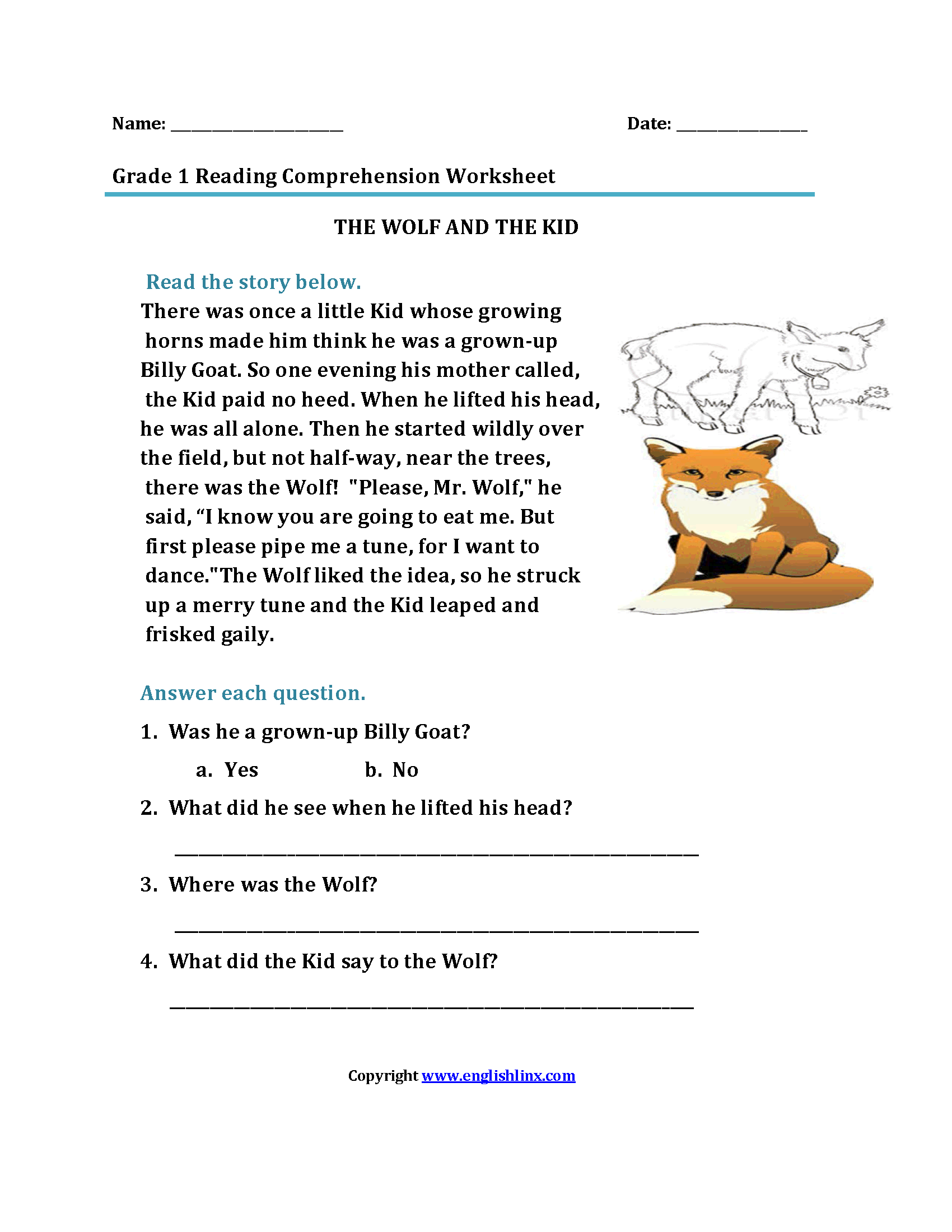 Reading Worksheets First Grade Reading Worksheets