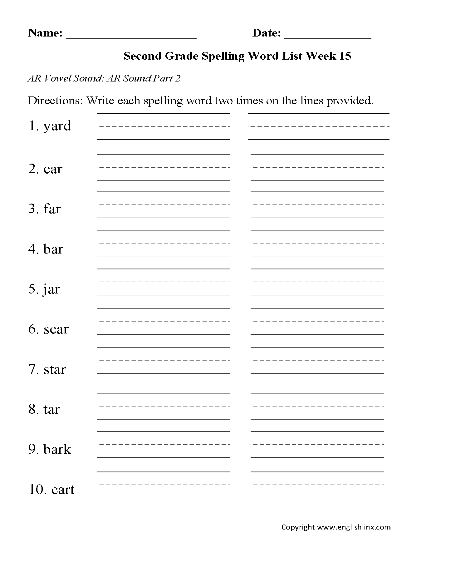 Worksheet Ar Words List Wosenly Free Worksheet – Ar Verbs Worksheet