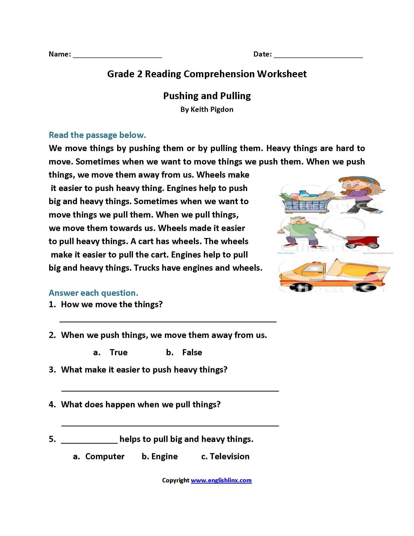 Worksheets Easy Reading Comprehension Worksheets reading worksheets second grade worksheets