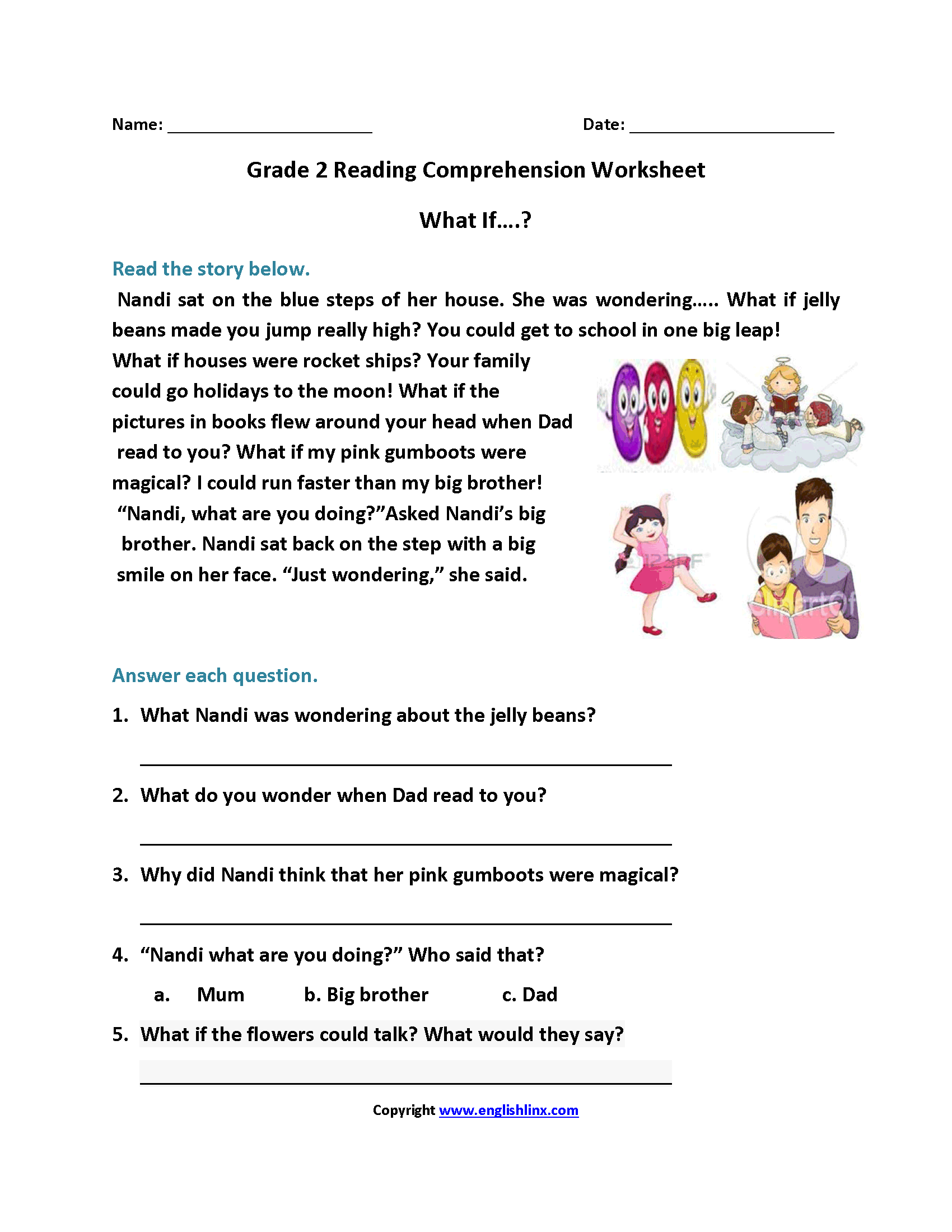 - Reading Worksheets Second Grade Reading Worksheets