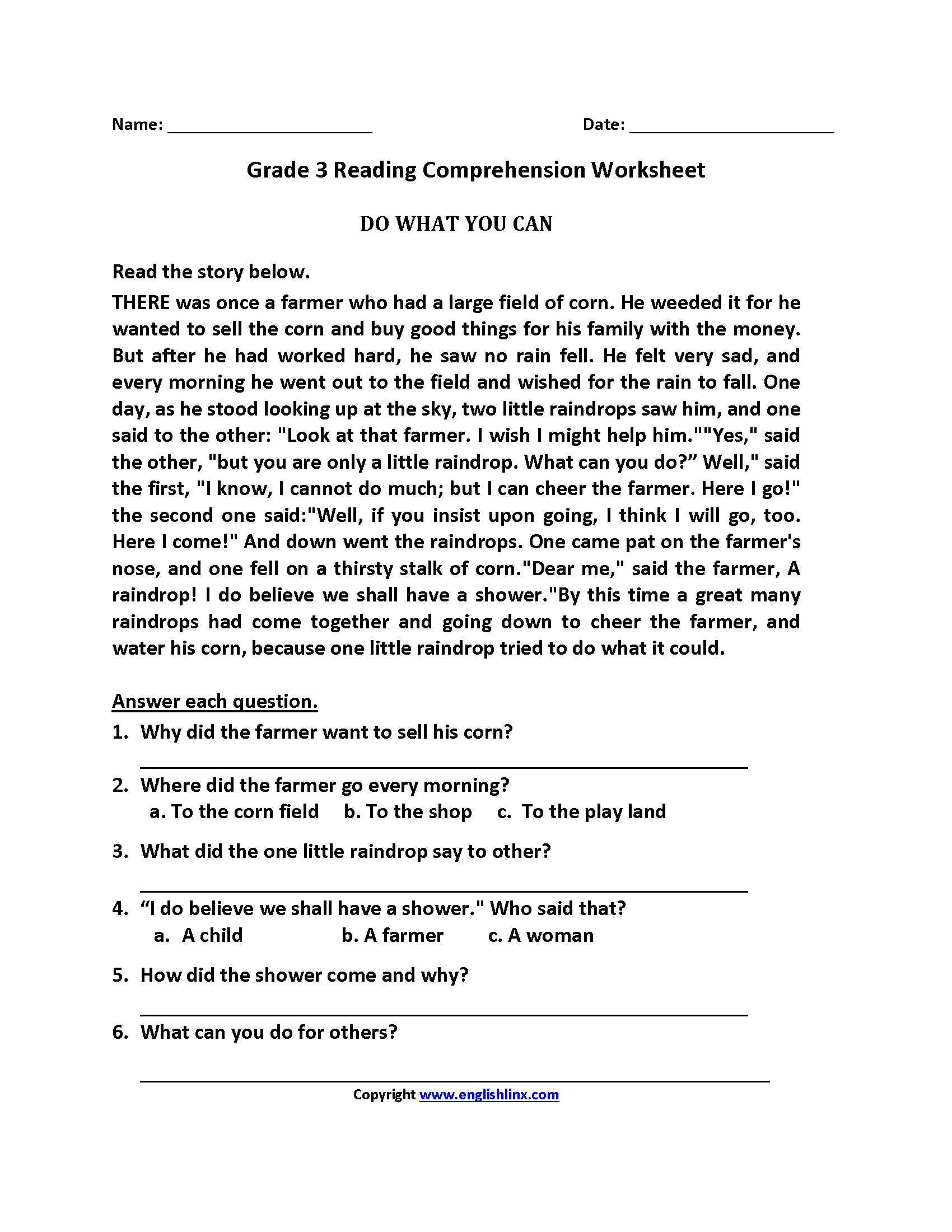It's just a photo of Intrepid Third Grade Printable Worksheets