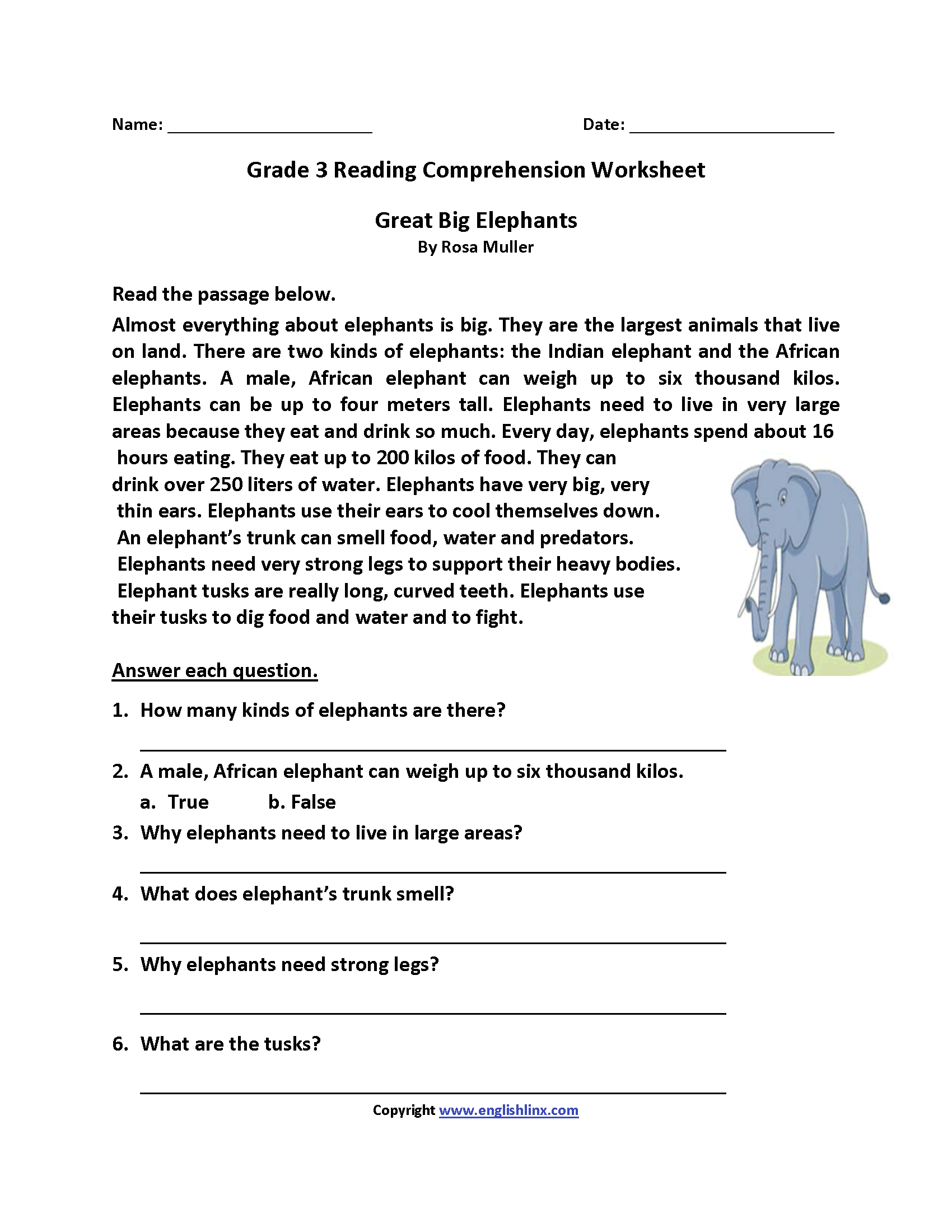Worksheets Third Grade Reading Comprehension Worksheets reading worksheets third grade worksheets