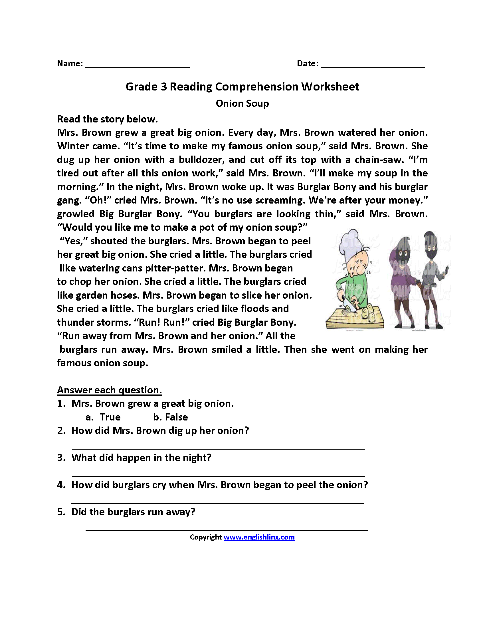 Reading Worksheets – Reading Worksheets for 3rd Grade