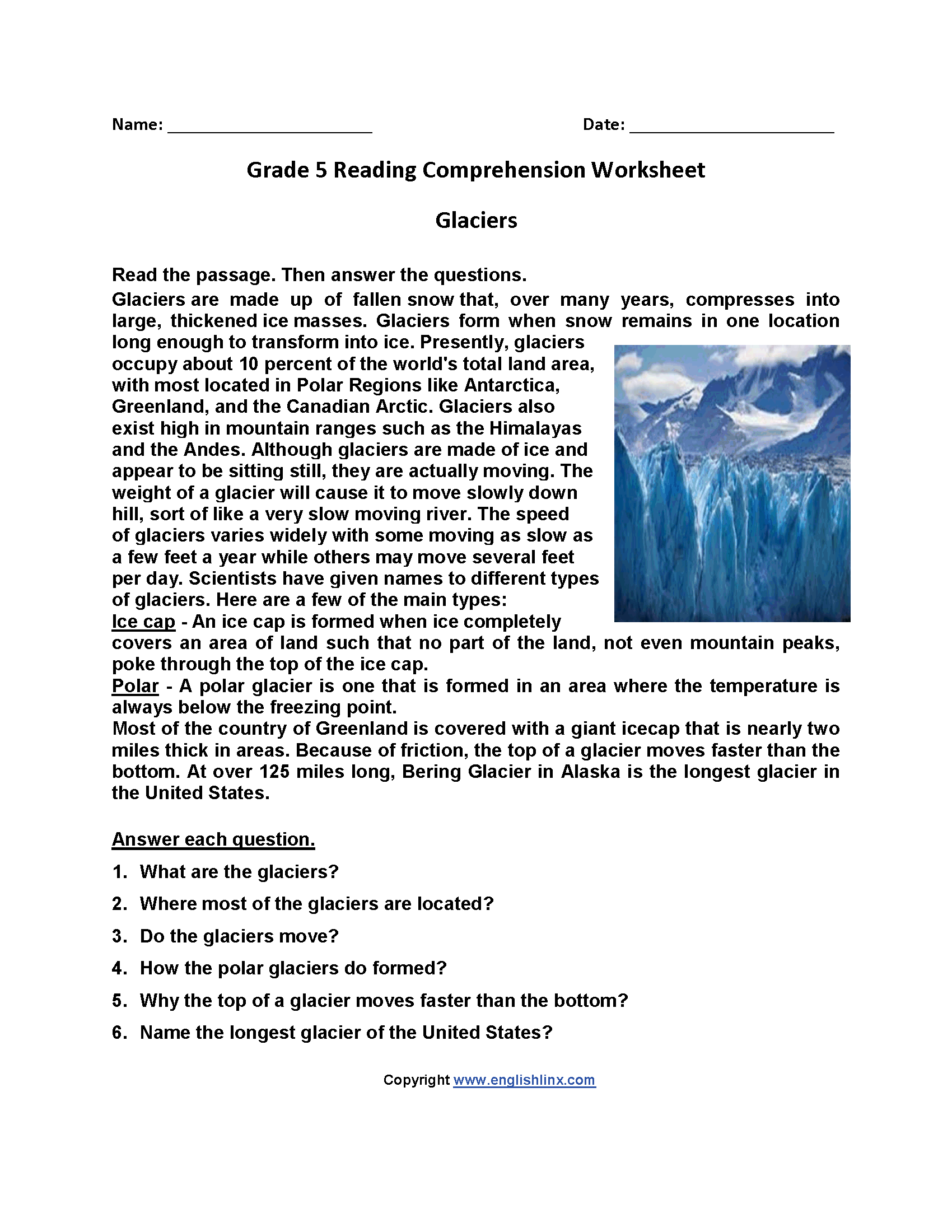 Worksheets Fifth Grade Reading Comprehension Worksheets reading worksheets fifth grade worksheets
