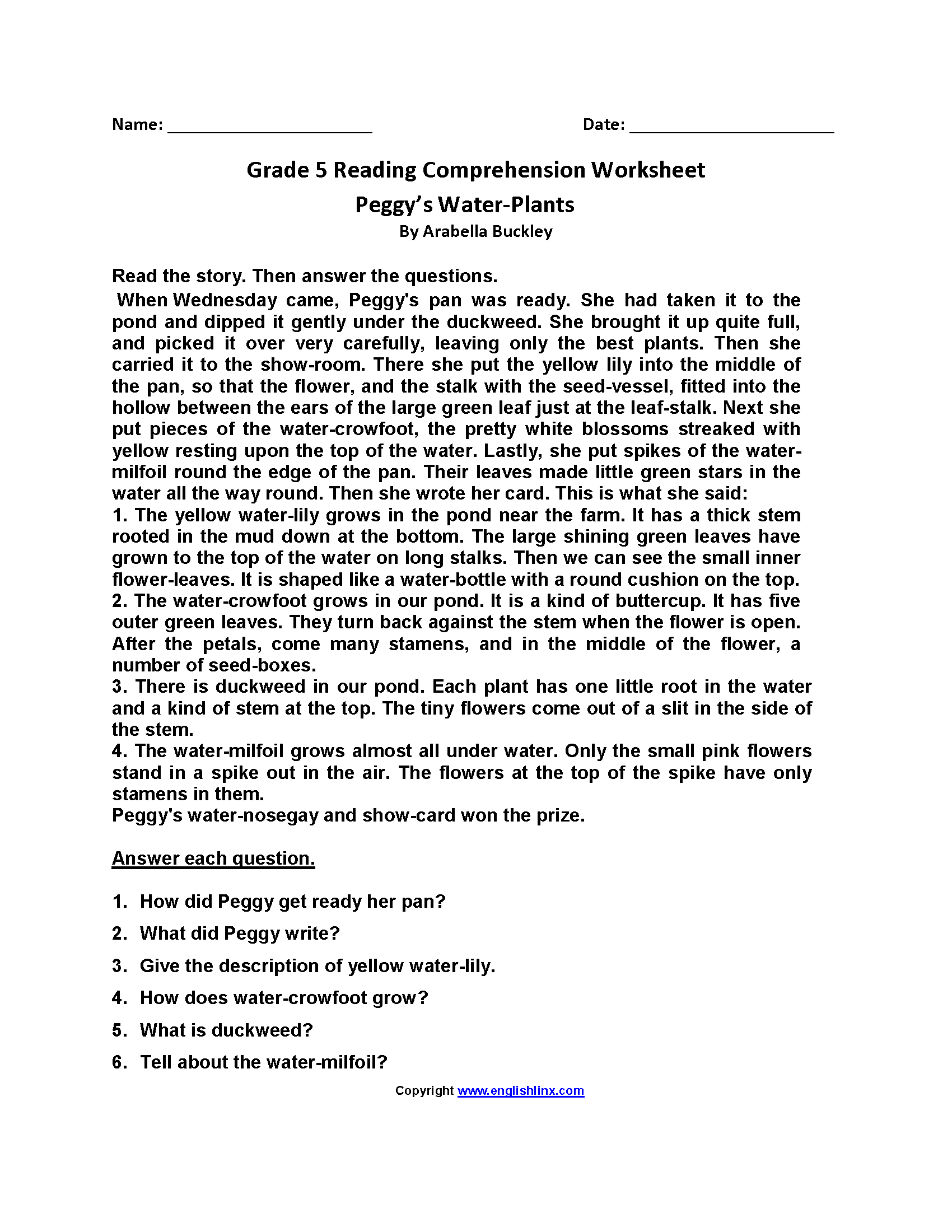- Reading Worksheets Fifth Grade Reading Worksheets