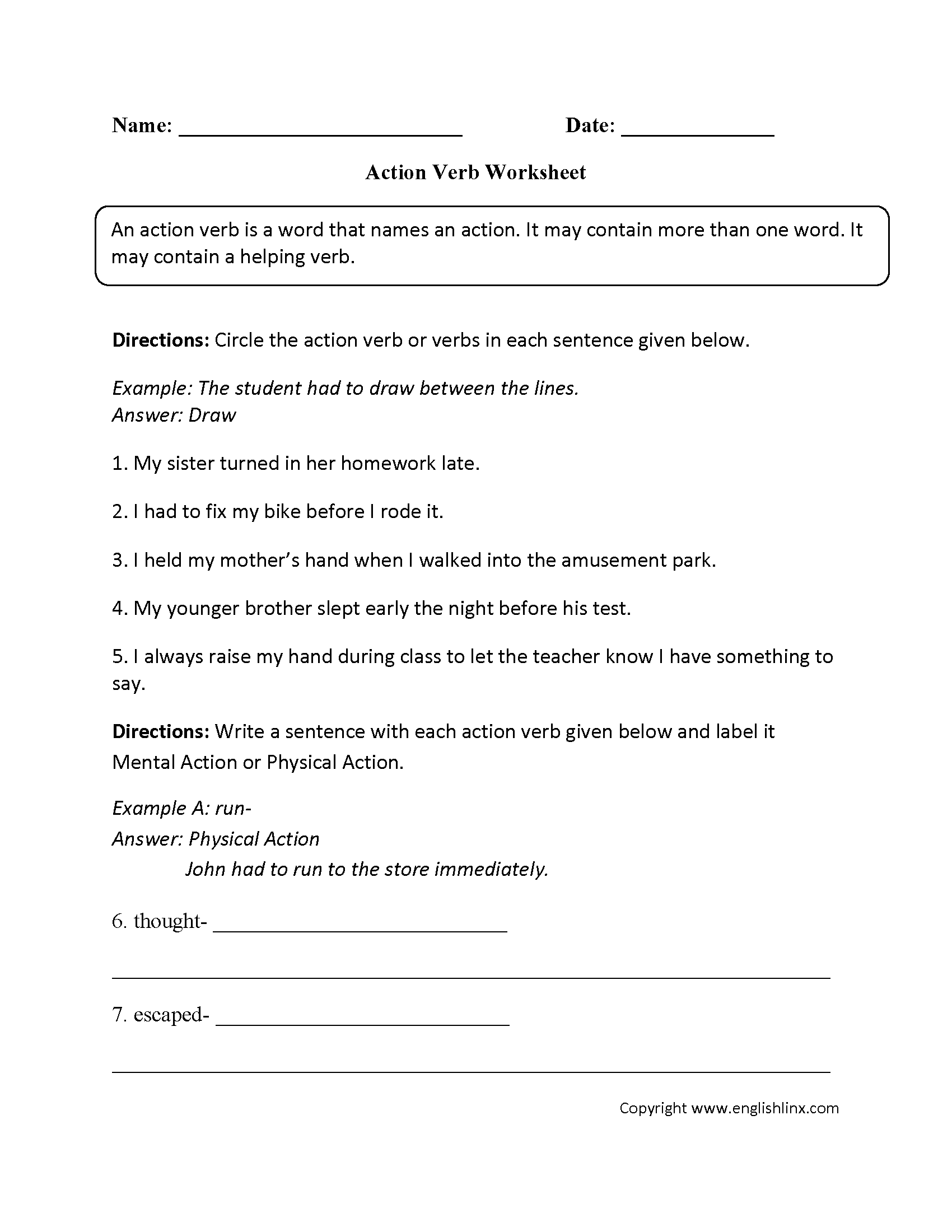 parts speech worksheets verb worksheets intermediate verb worksheets