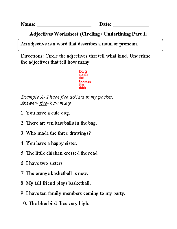 Comparative and superlative worksheets