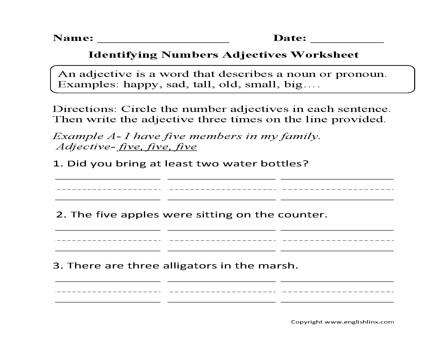 Worksheets Free Adjective Worksheets adjectives worksheets regular worksheets