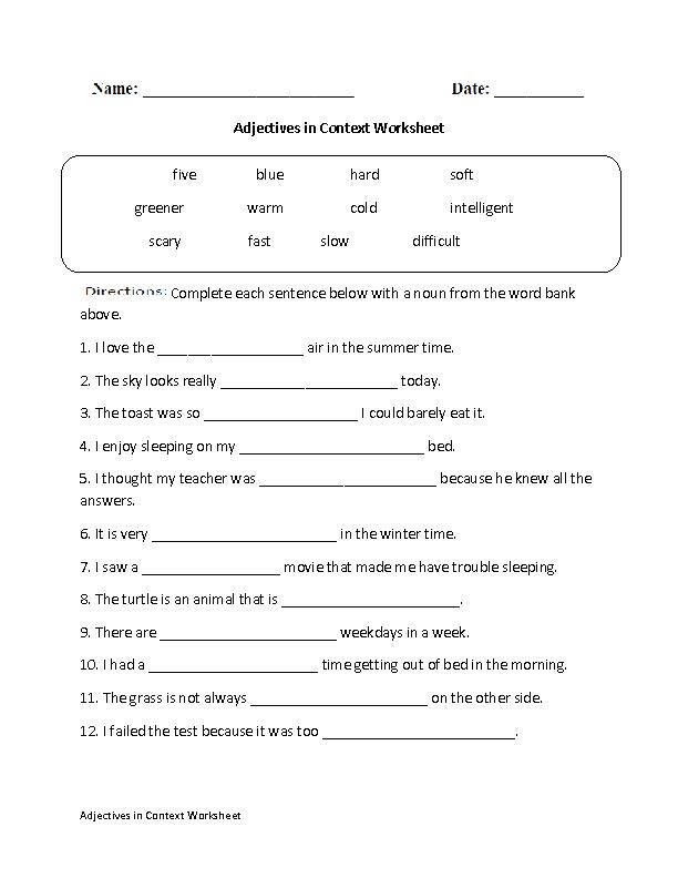 Adjectives Worksheets Regular Adjectives Worksheets - Download Adjectives Worksheets For Kindergarten Pdf Pics