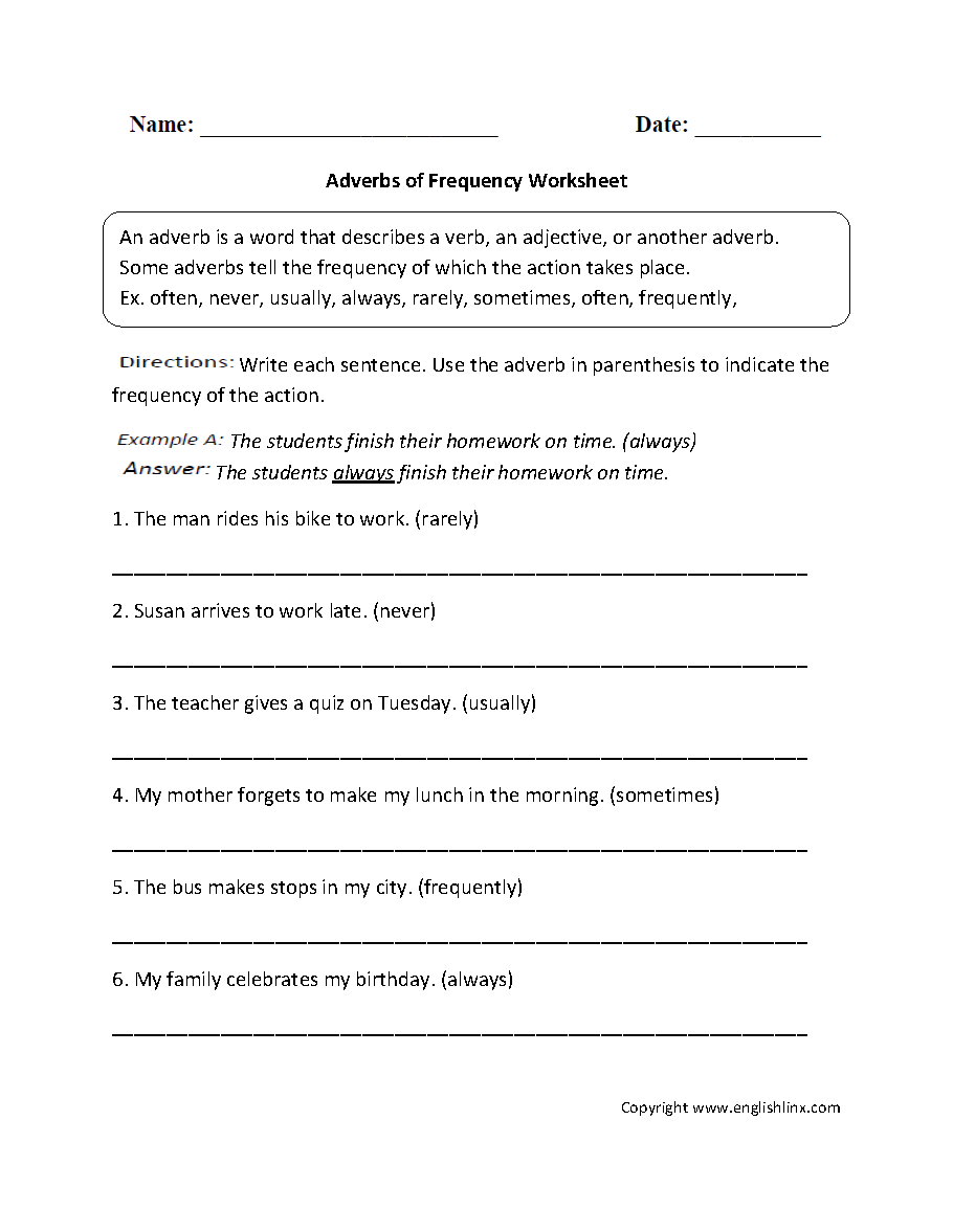 Worksheet Adverbs Of Place Worksheet parts speech worksheets adverb adverbs of frequency worksheet