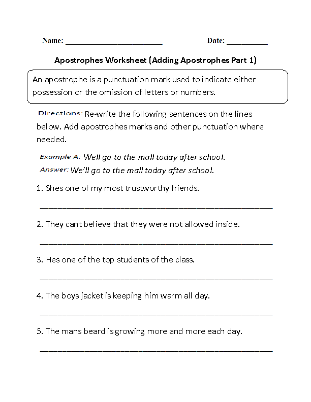 Englishlinx – English Worksheets for Grade 5
