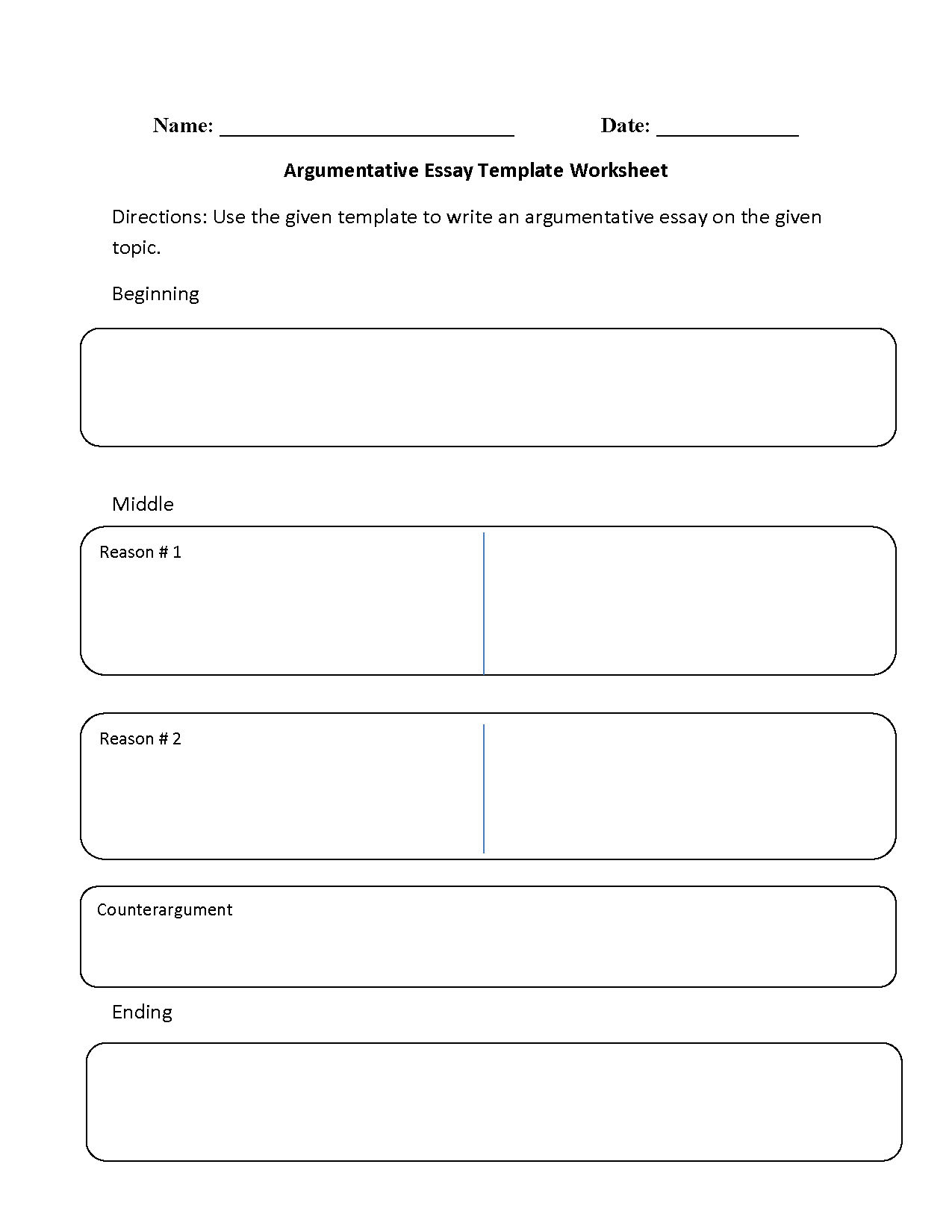 Reading Worksheets | Argumentative Worksheets