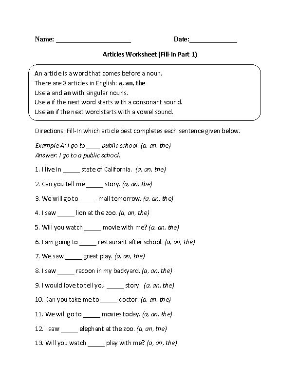 Englishlinx.com Articles Worksheets