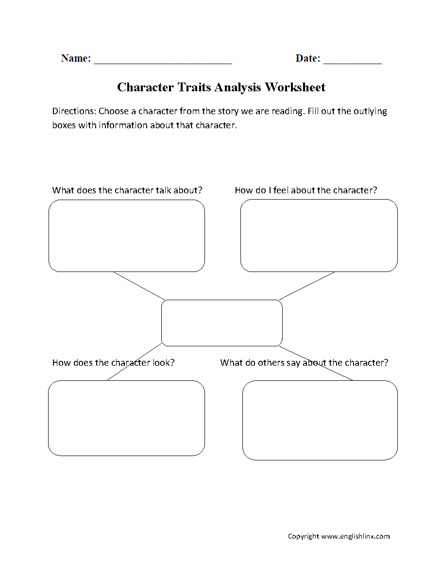 Printables Character Traits Worksheets reading worksheets character traits analysis worksheet