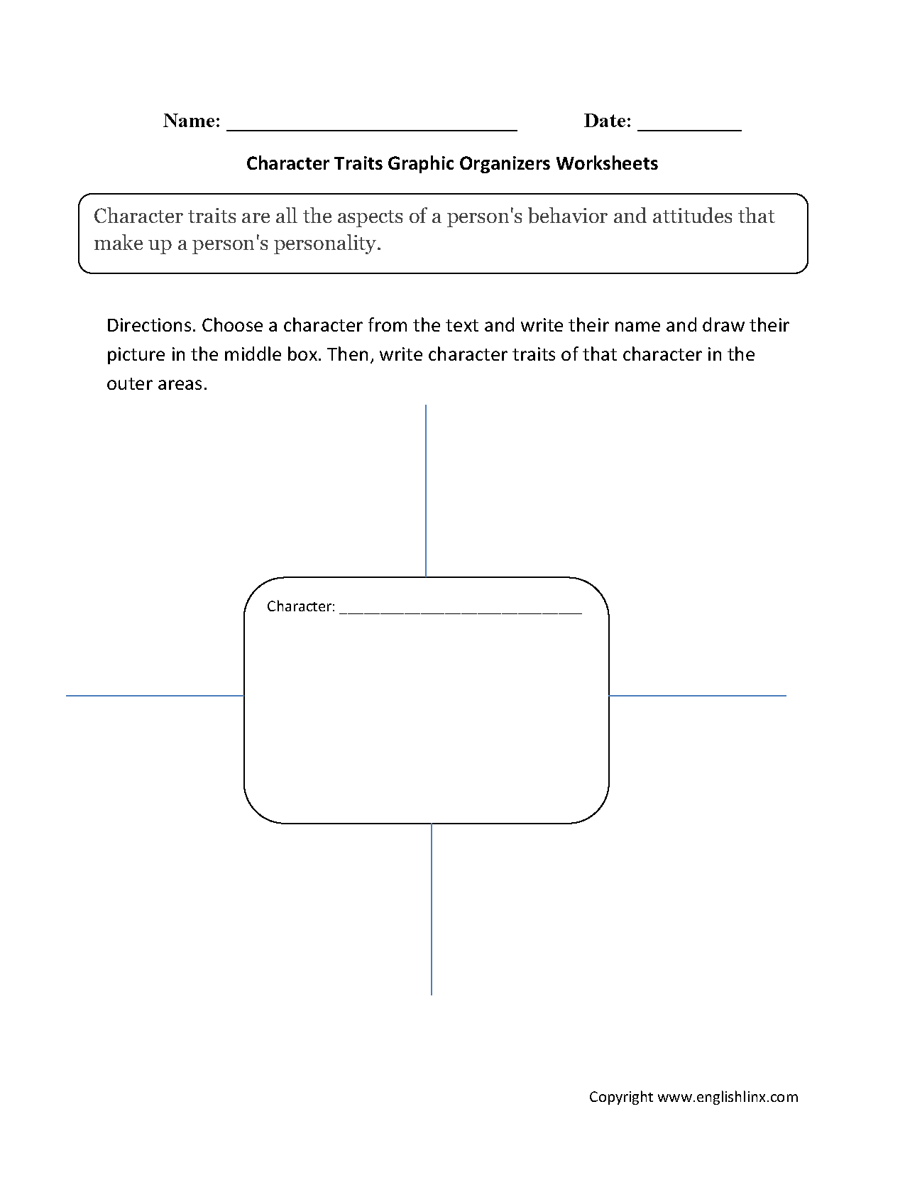 englishlinx | graphic organizers worksheets
