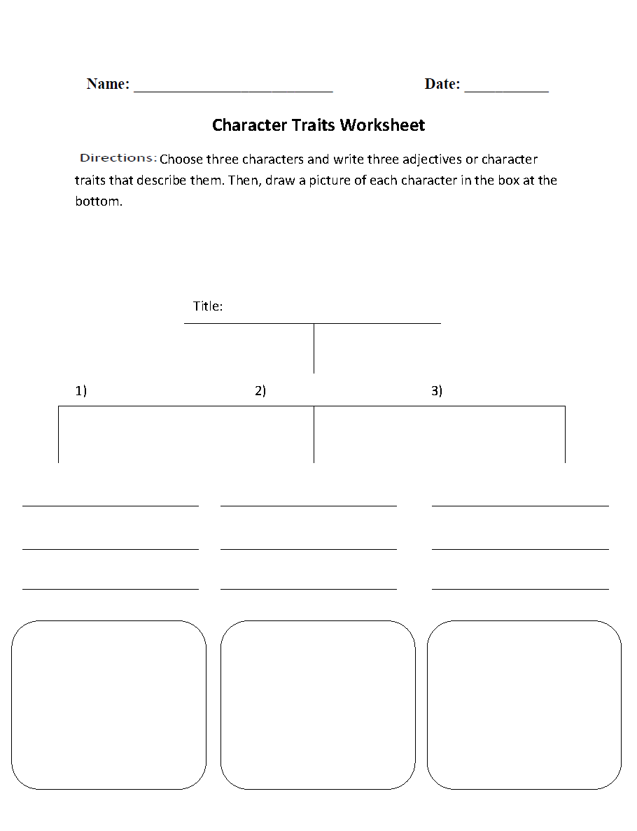 Worksheets Character Trait Worksheet character trait lessons throughout the year we continue to identify traits expand their vocabulary and add our bulletin board if you would like a copy of my