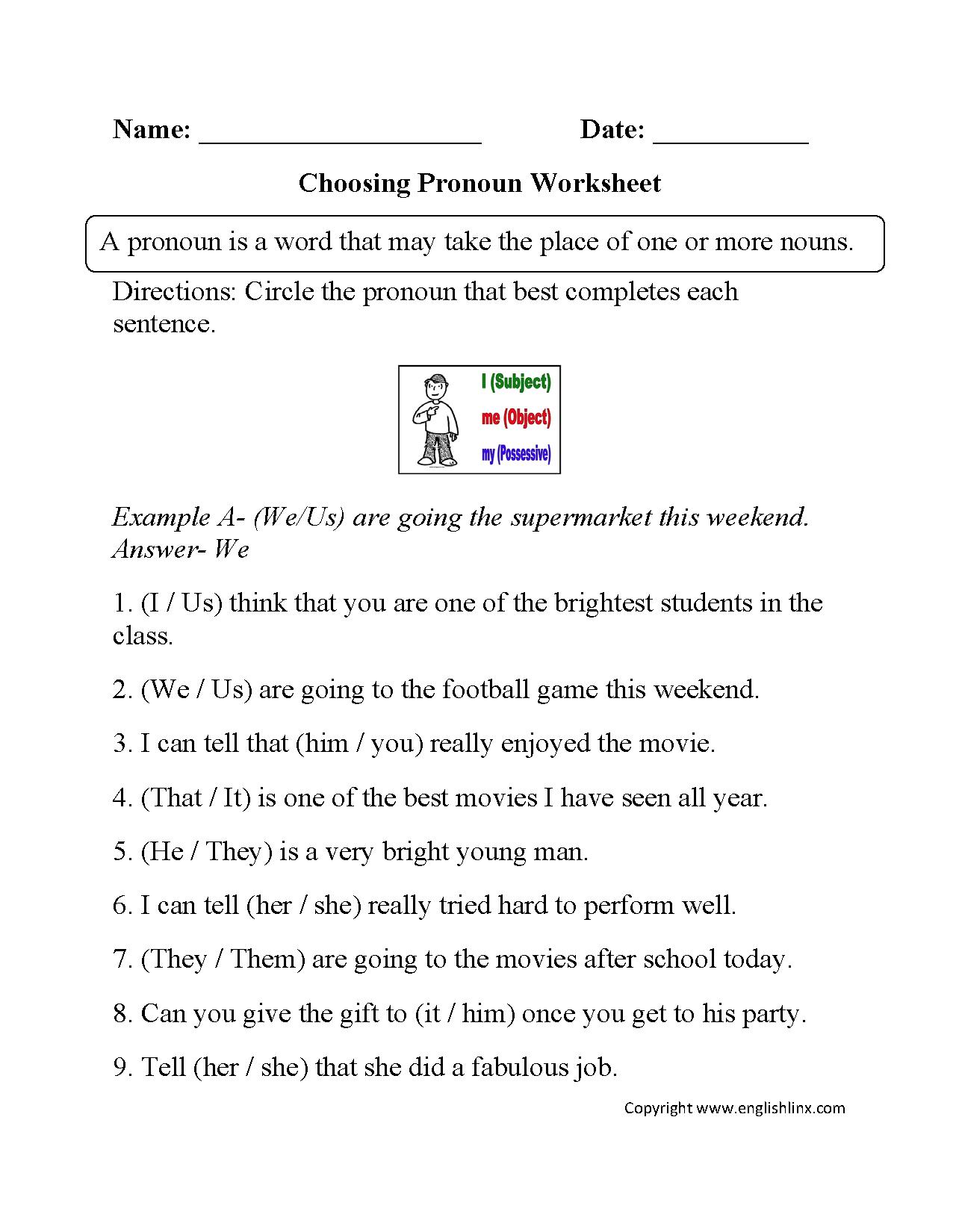 Grammar Worksheets Parts Of Speech Worksheets