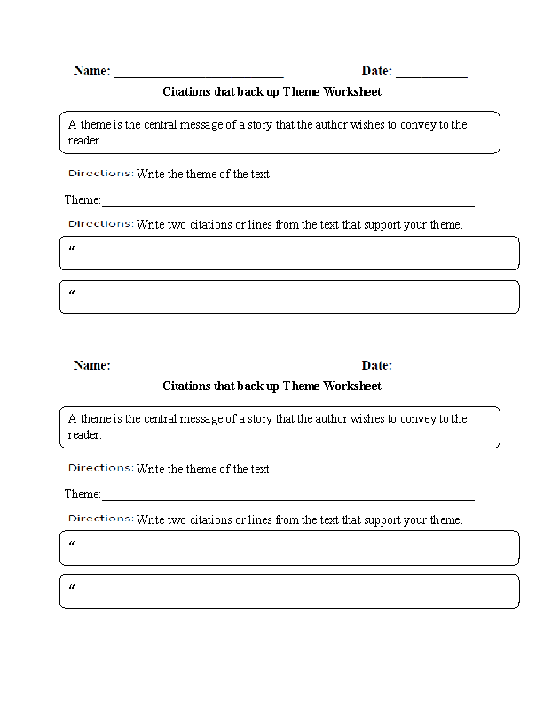 Theme Worksheets 6Th Grade Free Worksheets Library – Finding Theme Worksheets