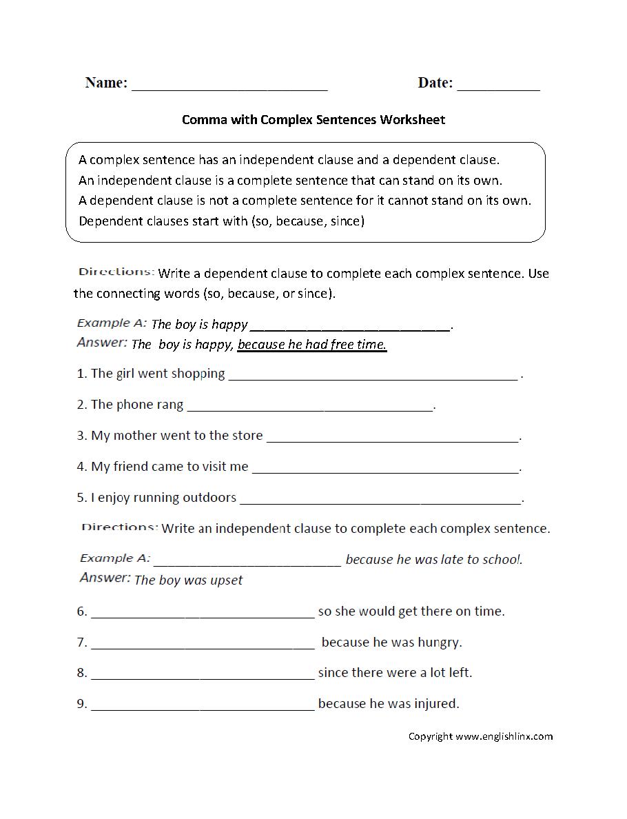 Workbooks punctuation comma worksheets : Punctuation Worksheets   Comma Worksheets
