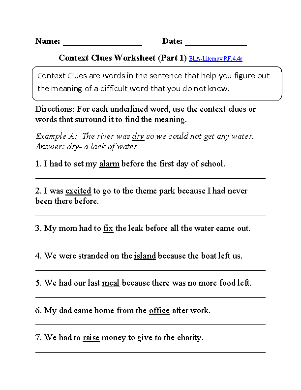 4th Grade Common Core – Worksheets for 4th Grade
