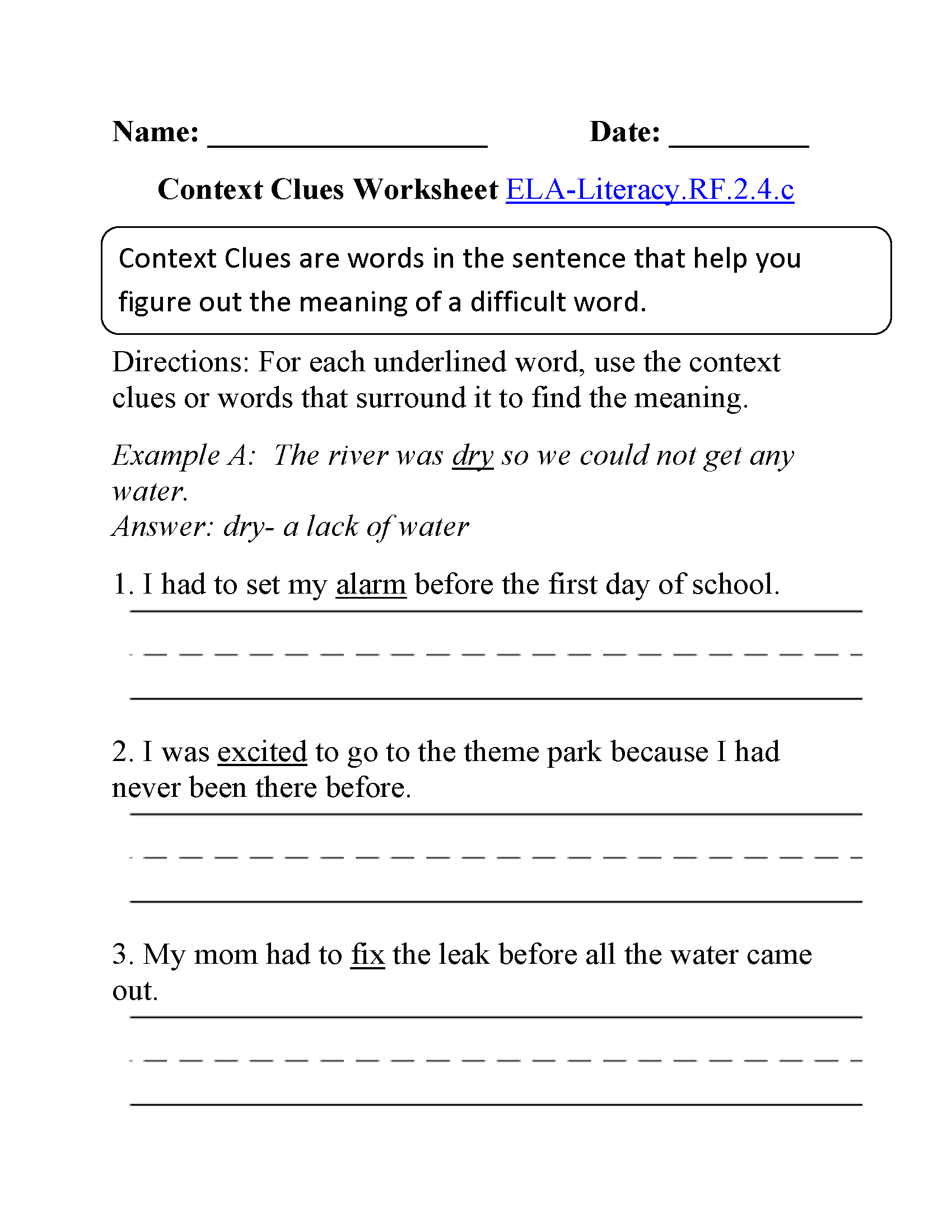 Free Worksheet Context Clues Worksheets 3rd Grade second grade reading worksheets context clues the best and most printables 3rd safarmedis