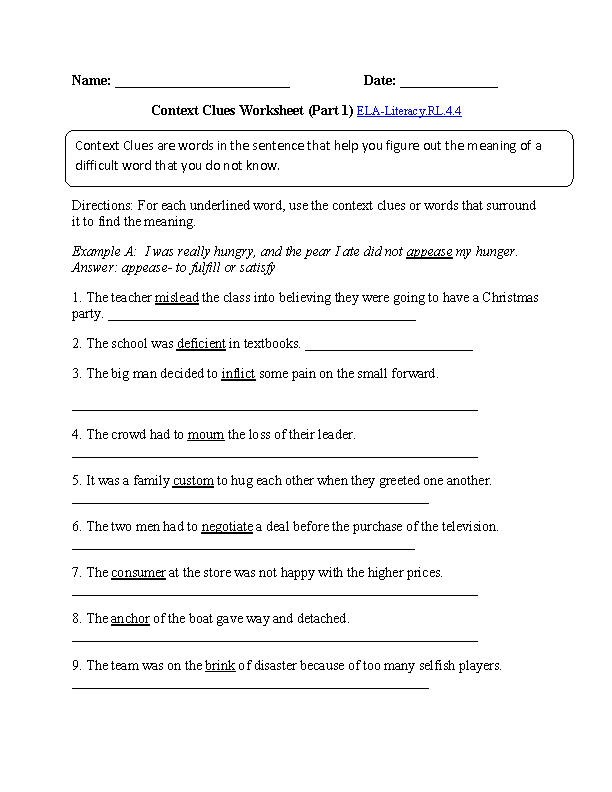 7th Grade Common Core | Reading Literature Worksheets