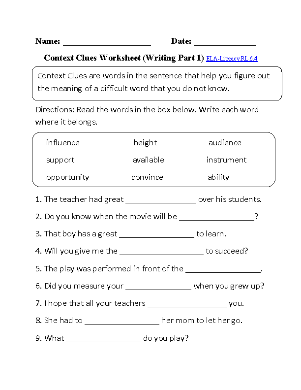 2nd Grade vocabulary worksheets 2nd grade Vocabulary in Context: Reading Level 11-K / Download PDF