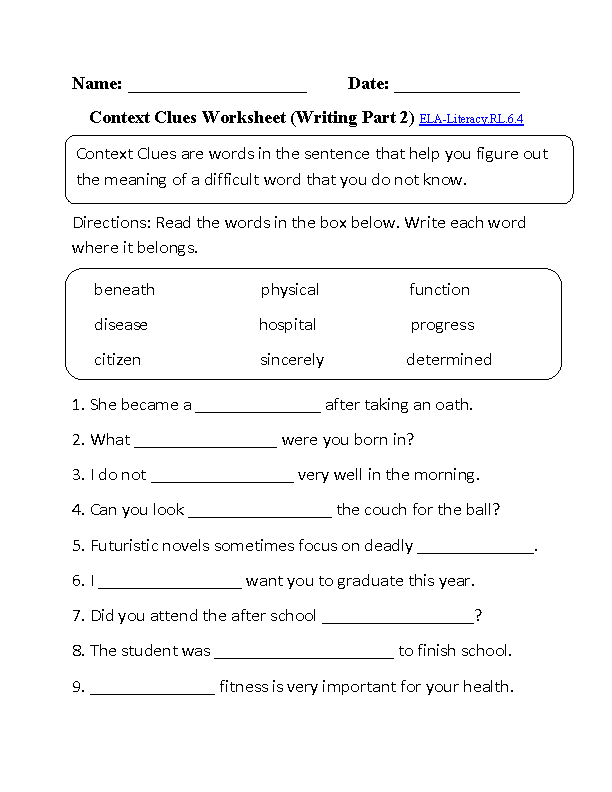 5th Grade Common Core | Reading Literature Worksheets