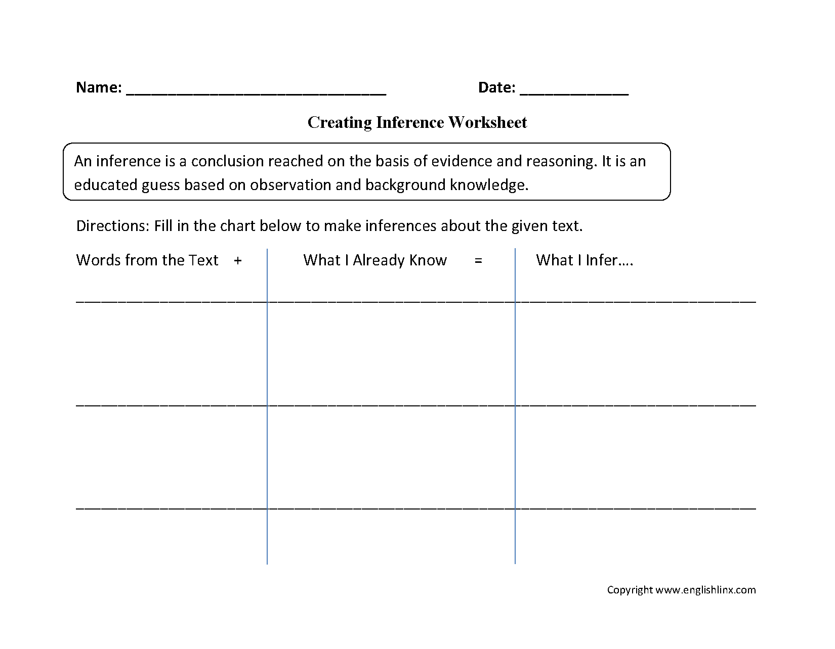 worksheet Observation Inference Worksheet reading worksheets inference worksheets