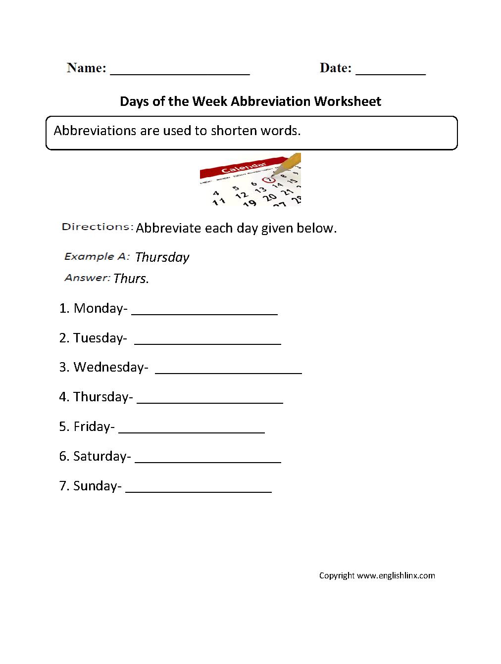 Grammar Mechanics Worksheets Abbreviation Worksheets