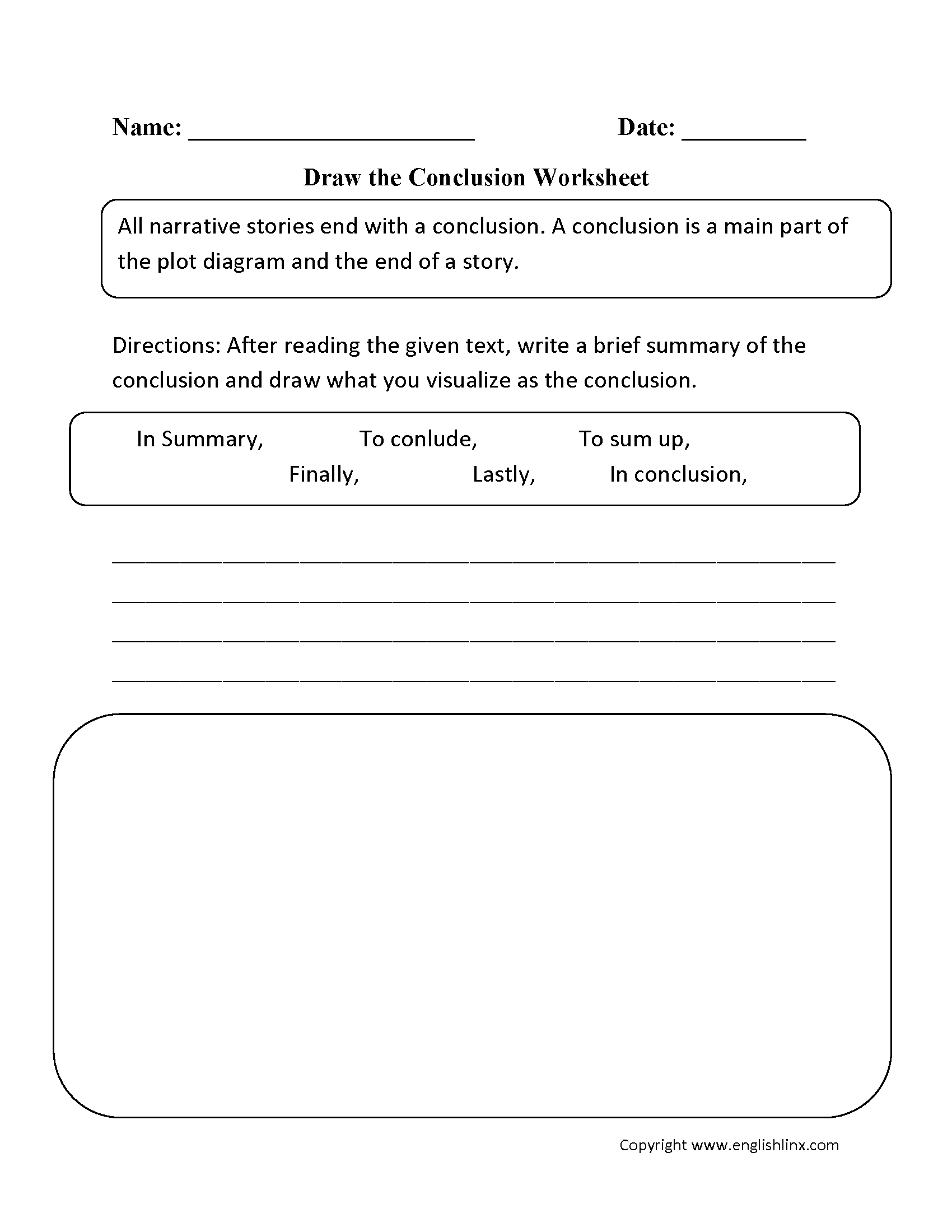 Reading Worksheets – Drawing Worksheets