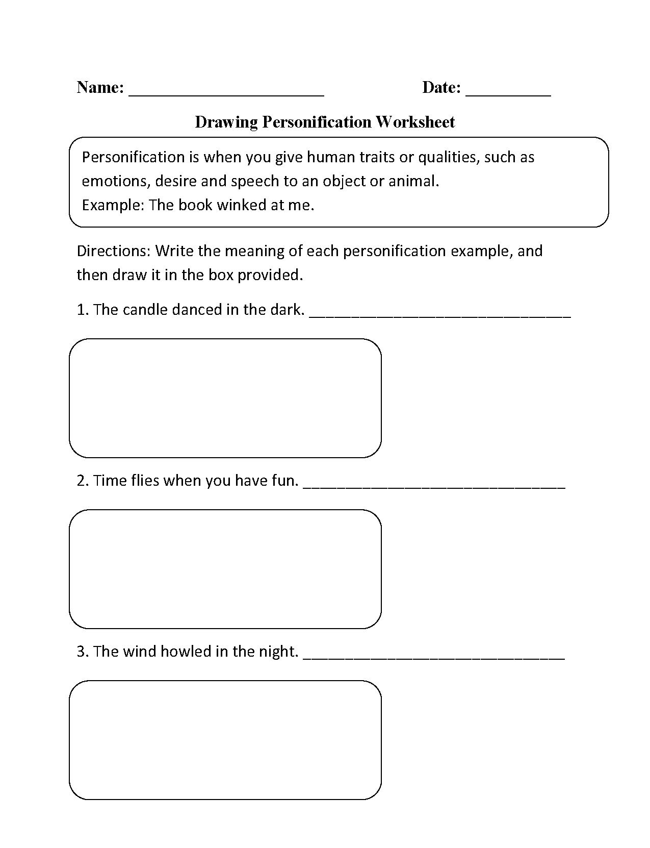 Worksheets Personification Worksheet figurative language worksheets personification worksheet