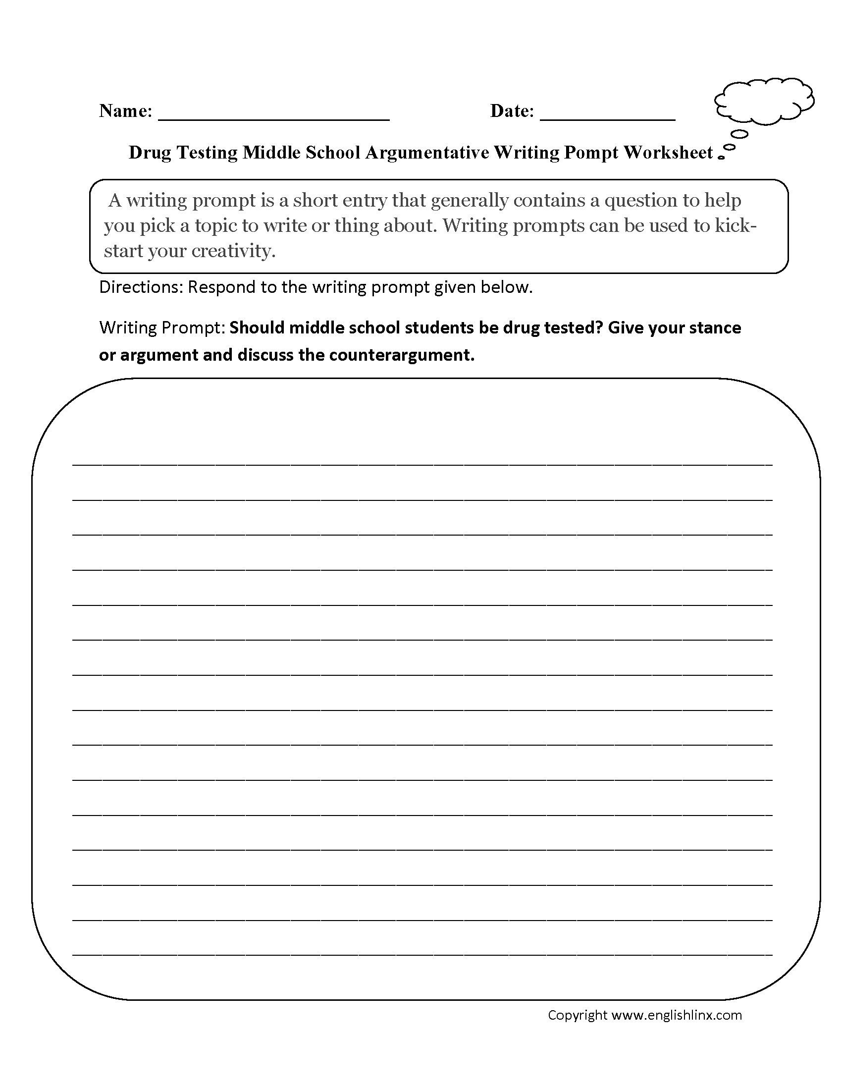 worksheet 8th Grade Writing Worksheets writing prompts worksheets argumentative worksheets