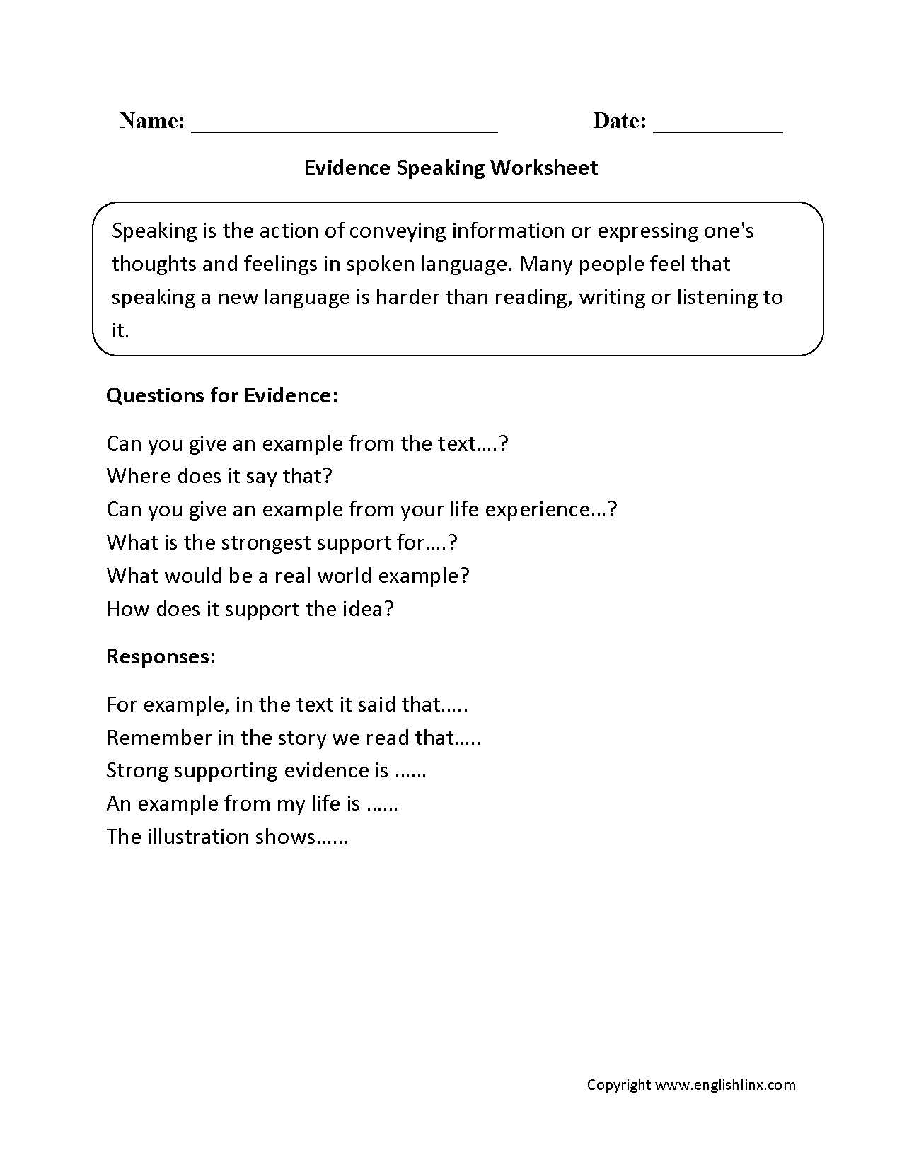 worksheet Public Speaking Worksheets englishlinx com speaking worksheets worksheets