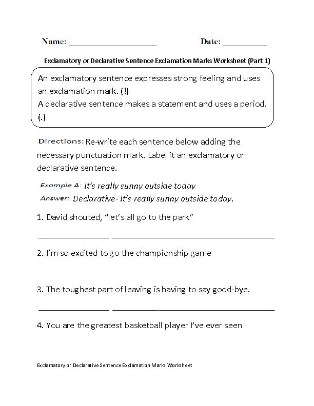 Englishlinx.com | Exclamation Marks Worksheets