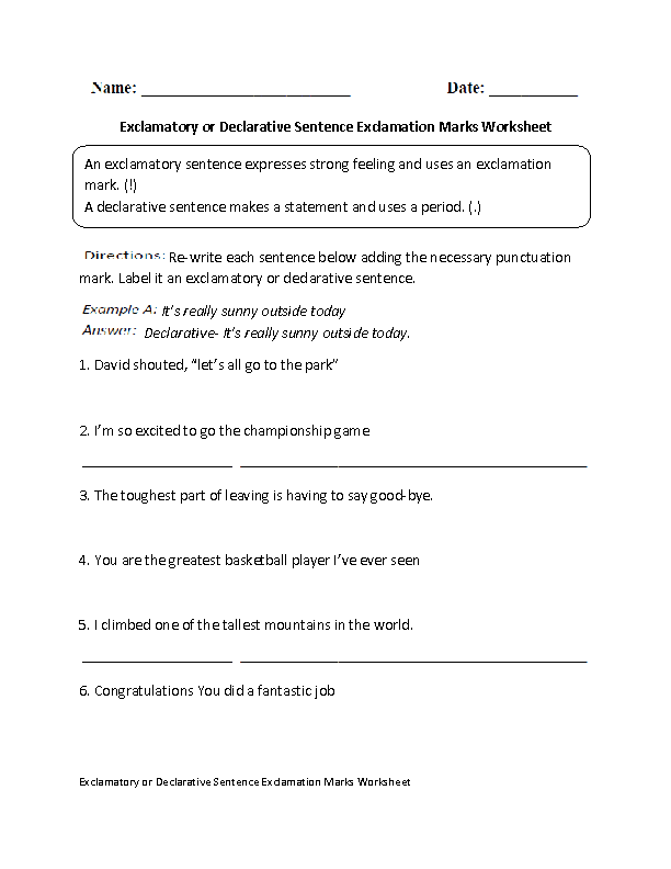 Englishlinx – I Statement Worksheets