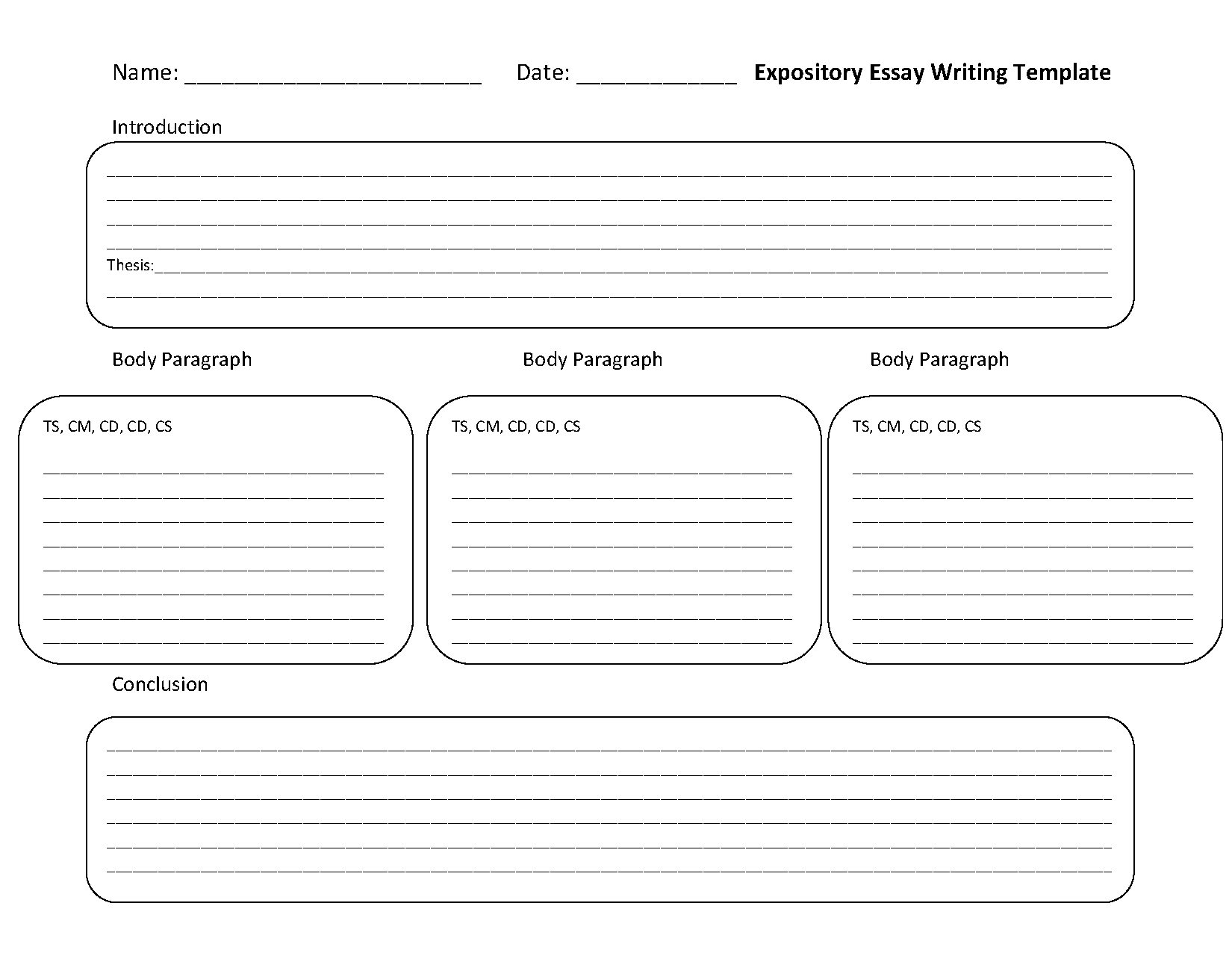 expository essay worksheet