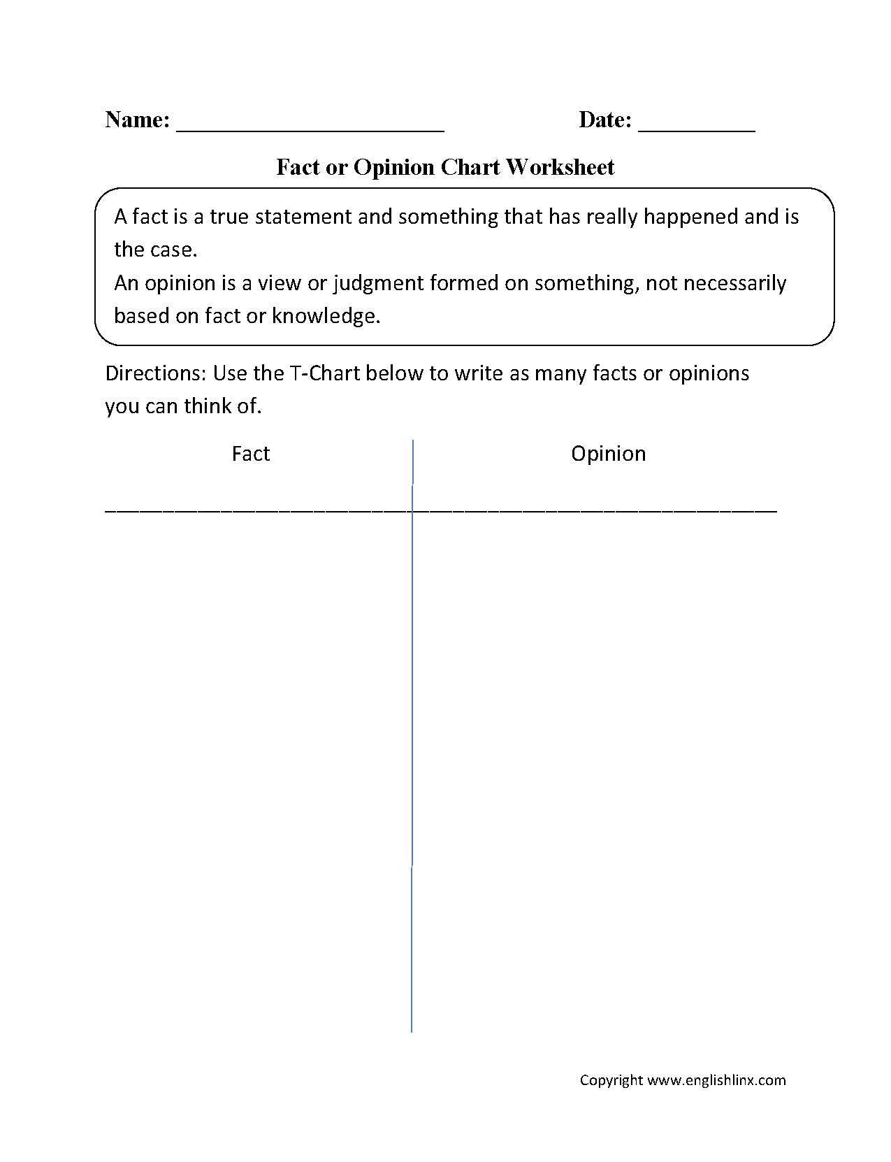 Reading Worksheets Fact And Opinion Worksheets
