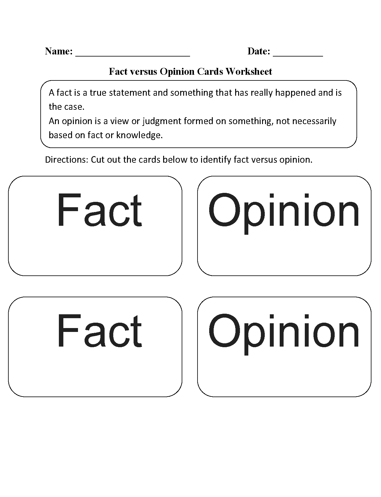 Reading Worksheets – Fact and Opinion Worksheets 2nd Grade