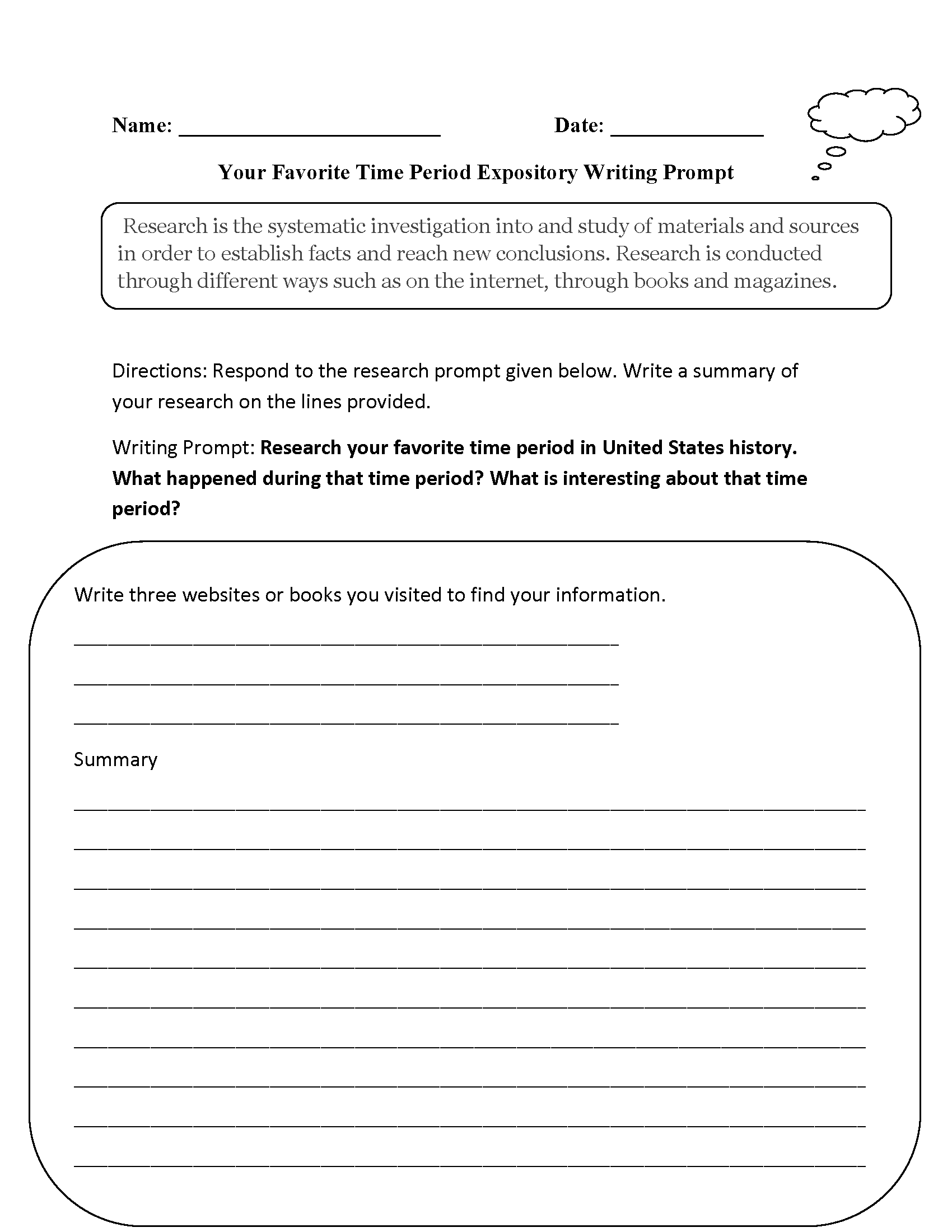 Expository Essay Prompts and Tips