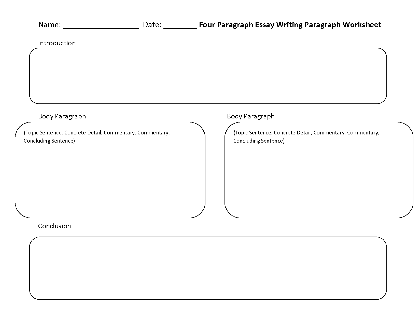 Writing Worksheets – Writing a Paragraph Worksheet