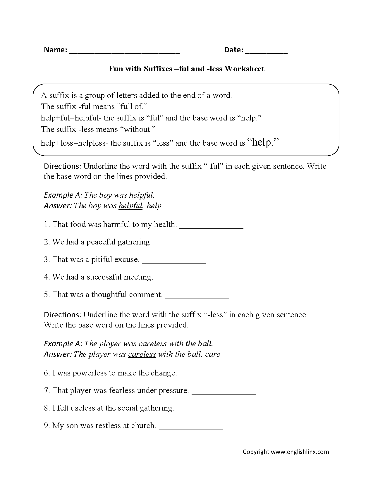 Worksheets Ged Social Studies Worksheets englishlinx com suffixes worksheets ful and less worksheets