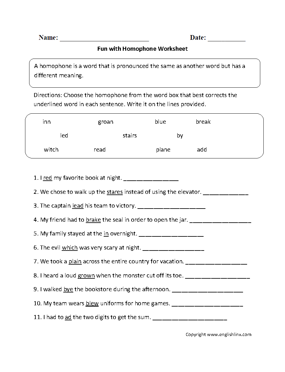 Content by Subject Worksheets | Vocabulary Worksheets