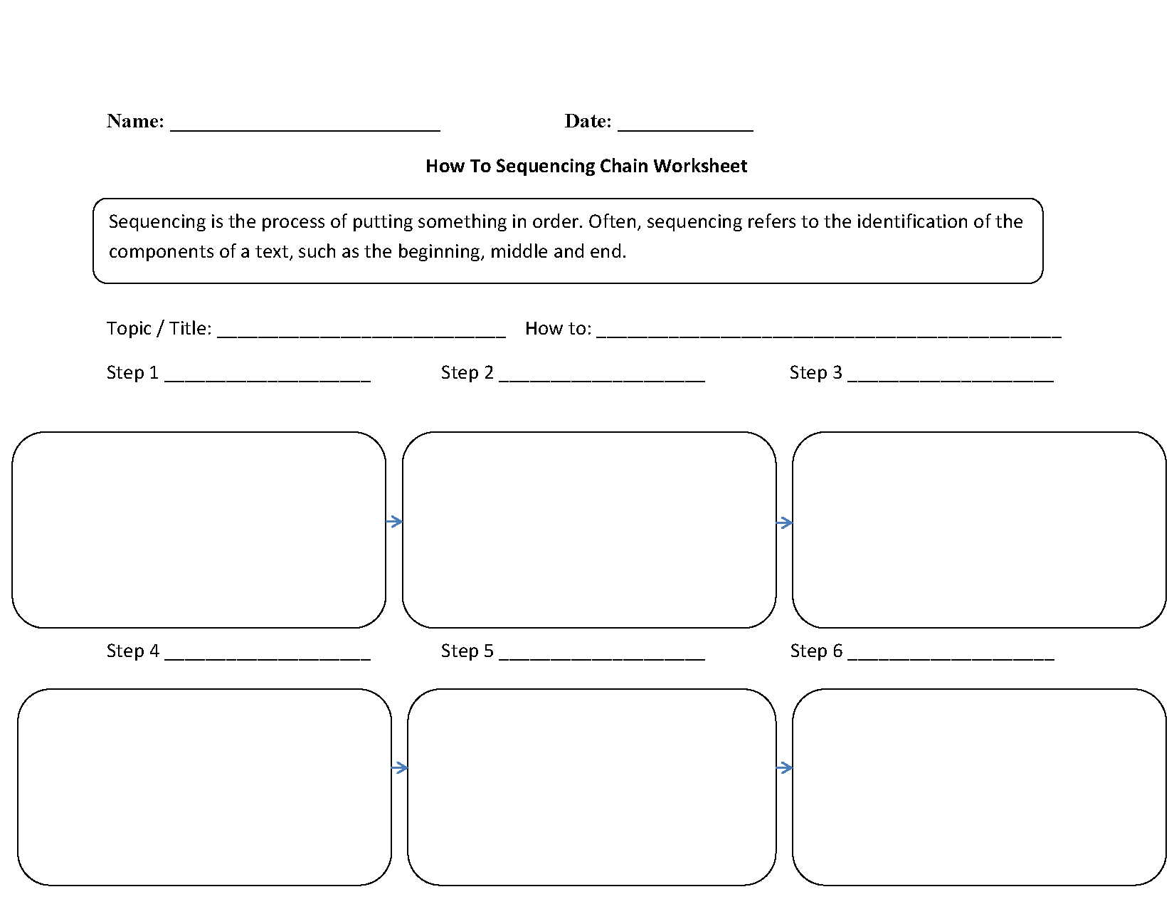 4Th Grade Sequencing Worksheets Free Worksheets Library