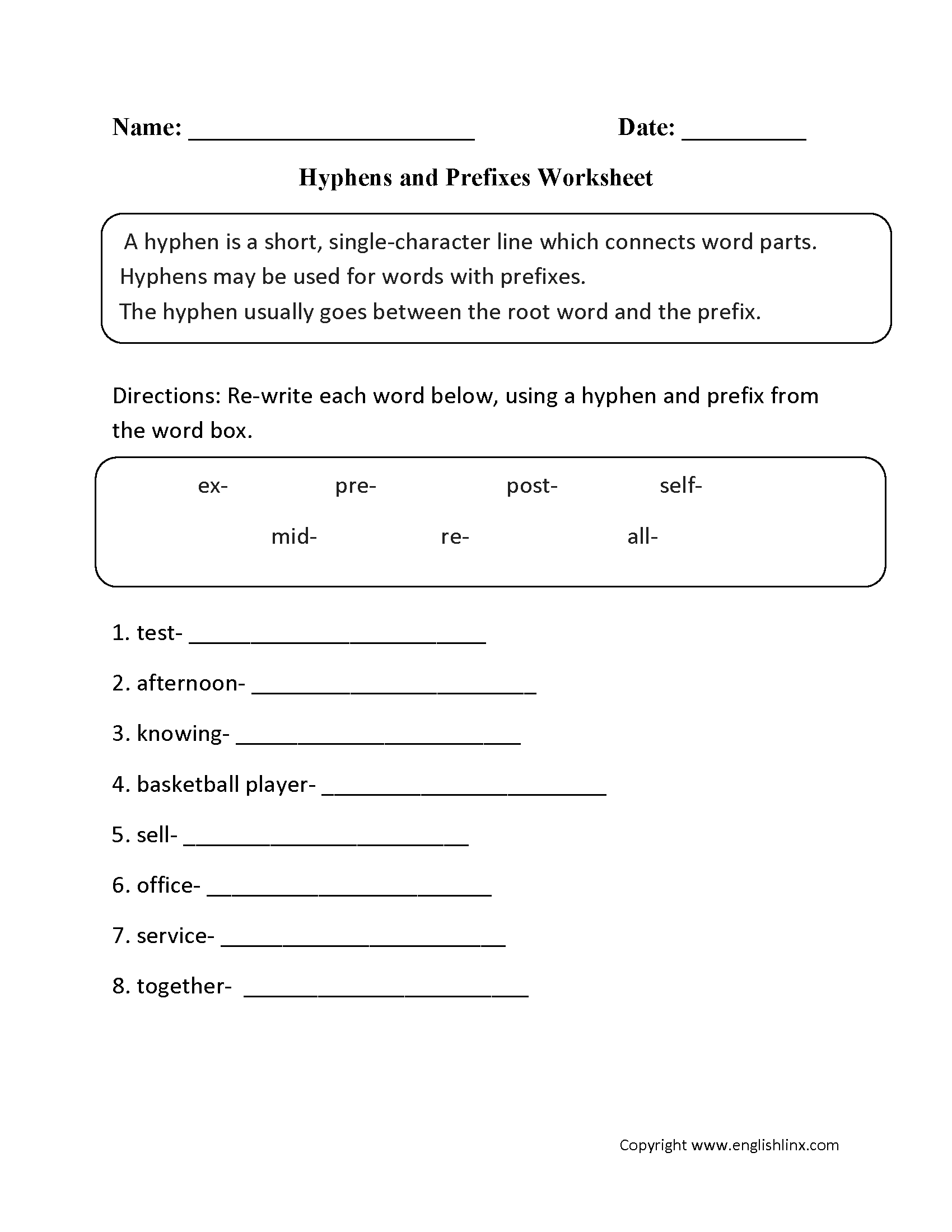 Worksheets 3rd Grade Punctuation Worksheets punctuation worksheets hyphen worksheets
