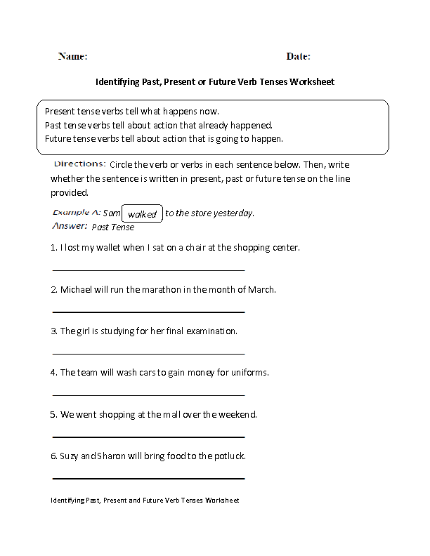 Verbs Worksheets – Progressive Verb Tense Worksheets
