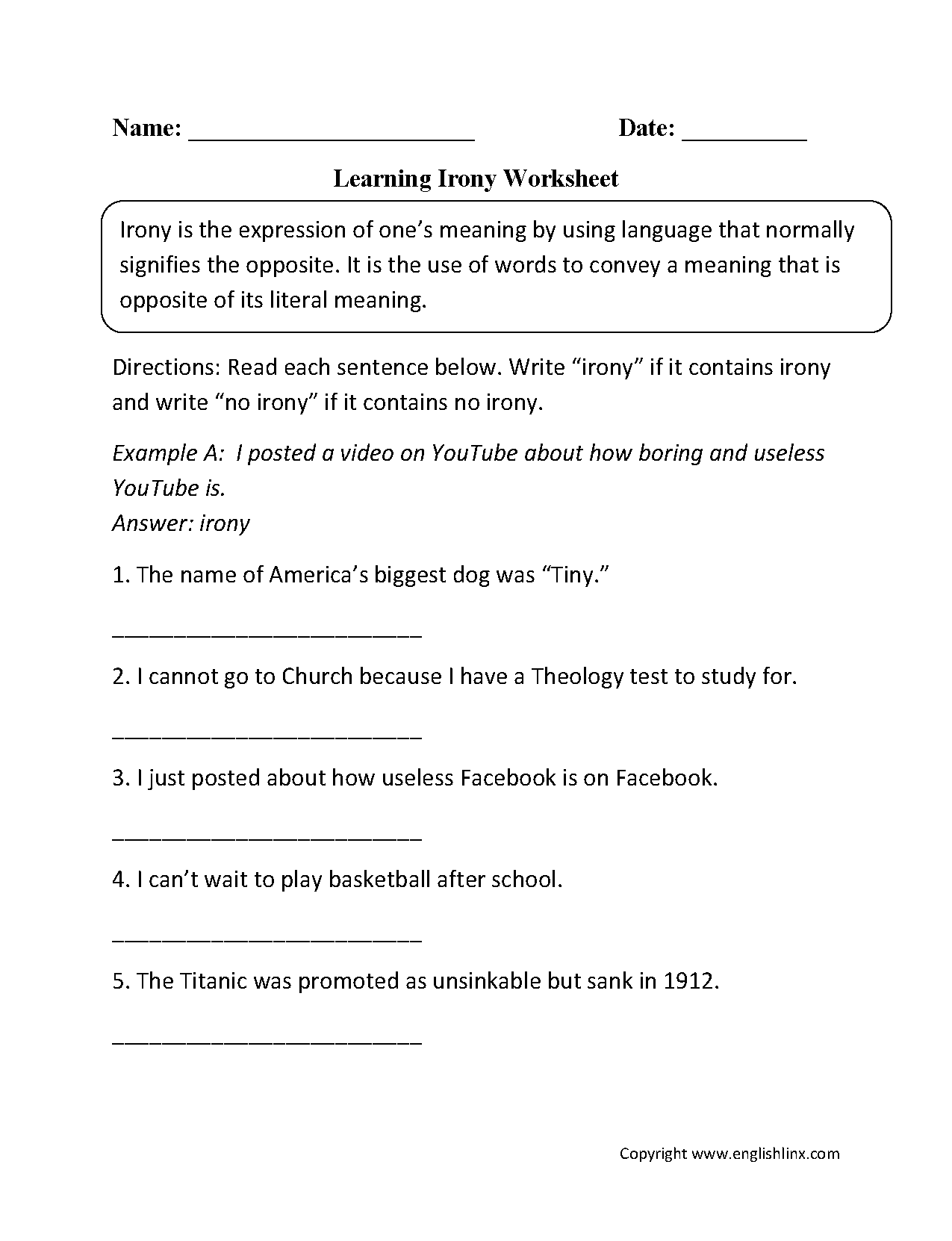Figurative Language Worksheets – Figurative Language Worksheet Middle School
