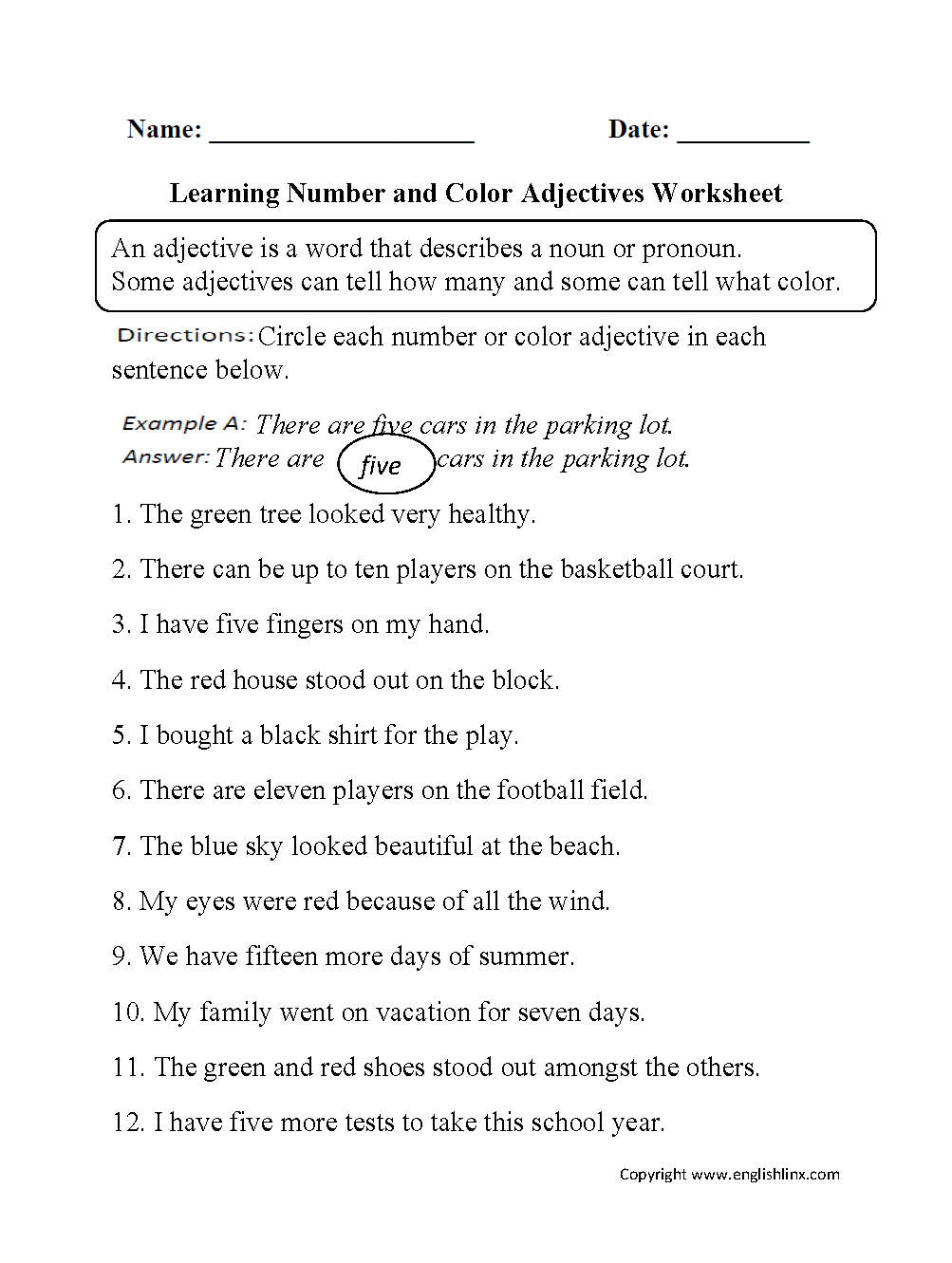 Worksheets Parts Of Speech Worksheet parts speech worksheets adjective worksheets